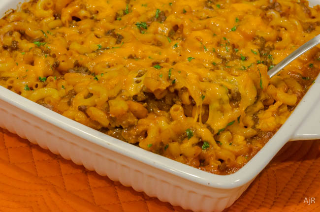 Tomato Beef Mac and Cheese