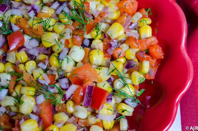 Corn and Red Peppers