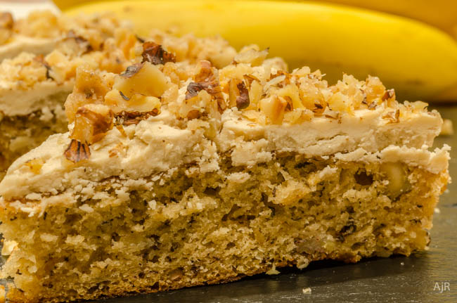 Banana Sheet Cake with Penuche Frosting