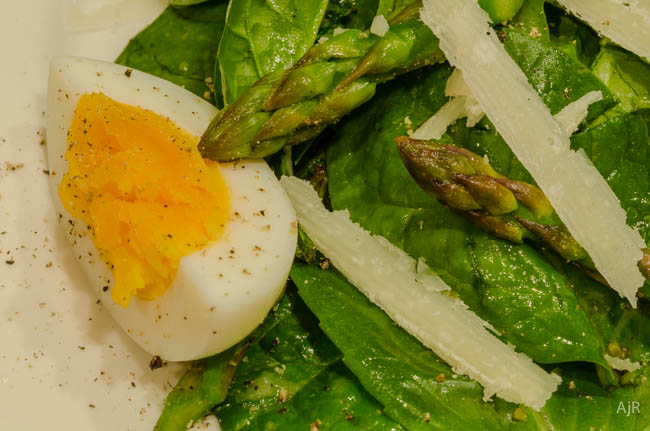Salad # 9 Grilled Asparagus and Spinach Salad