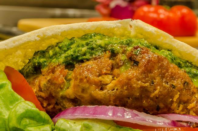 Chorizo Burgers with Chimichurri Sauce