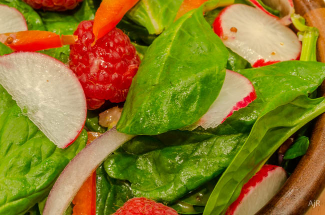 Pink Spinach Salad