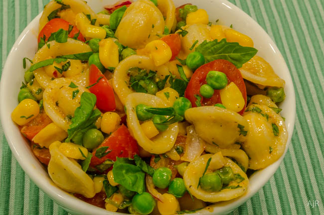 Salad # 82 – Orecchiette, Corn, and Pea Salad