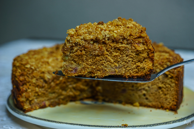 Rhubarb and Apple Coffee Cake
