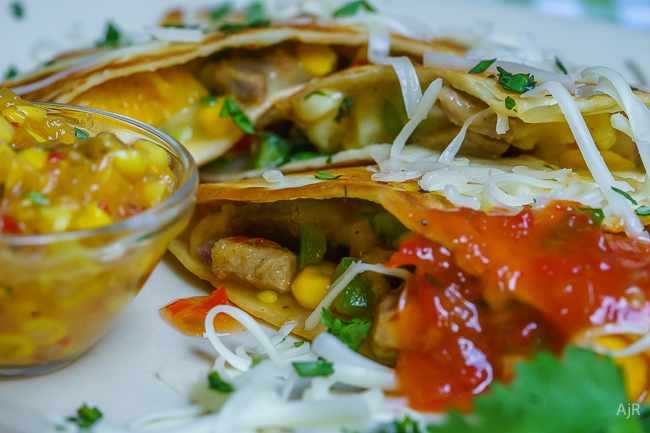 Pork and Mango Quesadillas