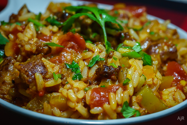 Spanish Rice with Chorizo